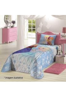 9cee055047 ... Colcha Frozen® Solteiro - Azul Claro   Branco - 150Xlepper