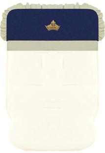 Capa De Carrinho Padroeira Baby Príncipe Luxo Azul Marinho