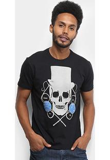 Camiseta Ellus Freaks & Wonders Masculina - Masculino-Preto