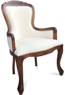 Cadeira Vitoriana Entalhada Madeira Maciça Design De Luxo Peça Artesanal