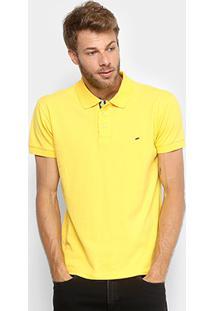 bda1964274 Camisa Polo Gangster Piquet Com Elastano Masculina - Masculino-Amarelo