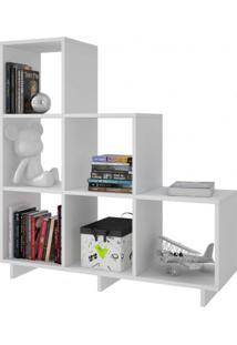 Estante Para Livros 6 Nichos Be19 Moderno Cube Brv Móveis Branco
