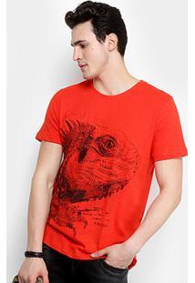 Camiseta Colcci Estampada Masculina - Masculino-Vermelho