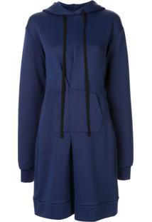 Unravel Project Vestido Com Capuz - Azul