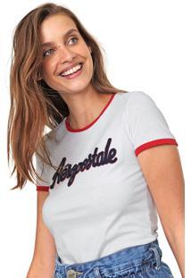 Camiseta Aeropostale Bordada Branca