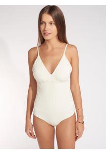 Body Rosa Chá Alana 3 Underwear Off White Feminino (Off White, G)