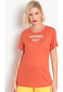 """Camiseta """"Wonder Fast""""- Laranja Escuro- Colccicolcci"""