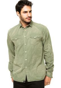 Camisa Triton Tricoline Jateada Verde