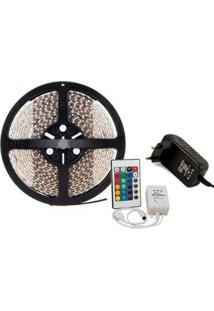 Fita Led Rgb 3528 - 5M Super Led + Controladora + Cont Remoto + Fonte