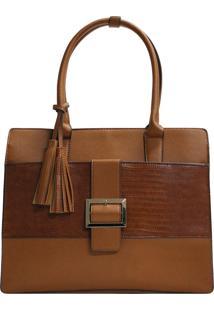 Bolsa Mão E Tiracolo Hand Bag Fivela Le Postiche (Caramelo, Único)