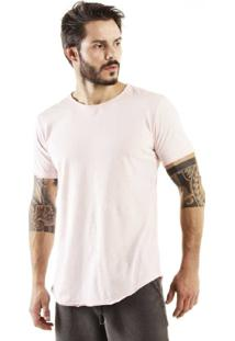 Camiseta Brohood Longline Curve Snake Rosa
