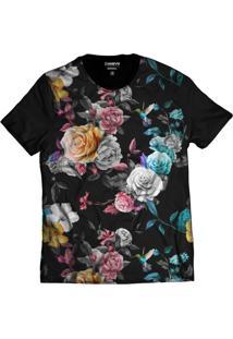 Camiseta Di Nuevo Flores Color Swag 2019 Floral Preta