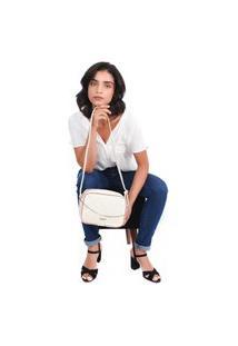 Bolsa Transversal Maria Milão Shoulderbag Corrente Off White