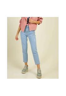 Calça Jeans Puídos Capri Feminina Biotipo