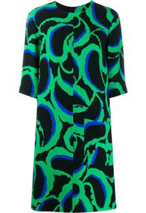 Marni Vestido Com Estampa Abstrata - Verde