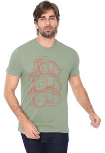 Camiseta Aramis Fotográfica Verde