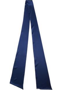Styland Lenço De Seda Com Laço - Azul