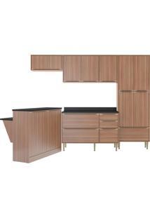Cozinha Compacta Calábria 6 Peças 13 Portas Nogueira Multimóveis