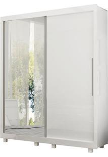 Guarda Roupa Pérola Porta De Espelho Branco - Gelius Móveis