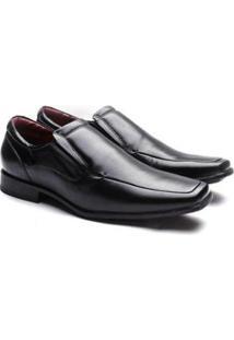 Sapato Social Manutt Couro 041 Masculino - Masculino-Preto