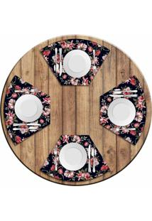 Jogo Americano Love Decor Para Mesa Redonda Wevans Flowers Paradise Kit Com 4 Pçs