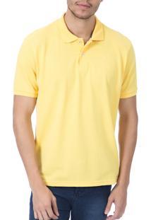 Camisa Polo Colombo Amarela Lisa