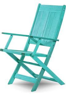 Cadeira Retangular Dobravel Acqualung+ C/ Braco Estrutura Azul 99Cm - 61640 - Sun House