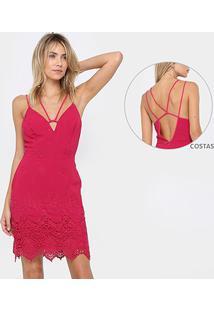 f39f7d3a2 R$ 135,99. Zattini Vestido Colcci Rosa Curto ...