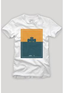 Camiseta Reserva Silhueta Masculina - Masculino-Branco