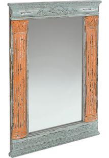 Espelho Para Ornamentação- Cinza & Bege Escuro- 104Xdecor Glass