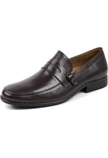 Sapato Social Opananken Grf Marrom Escuro