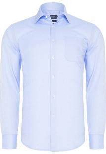 Camisa Masculina Social Comfort - Azul