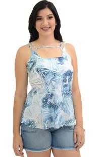 Regata Energia Fashion Estampada Azul