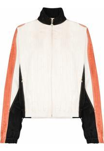 Marine Serre Moiré Contrast-Detail Track Jacket - Branco