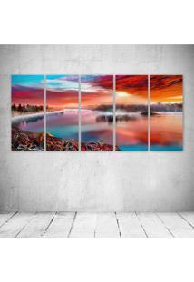 Quadro Decorativo - Artistic River - Composto De 5 Quadros - Multicolorido - Dafiti