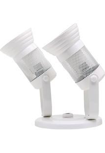 Spot Com Tela Para 2 Lâmpadas Branco