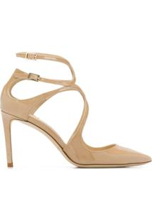 Jimmy Choo Scarpin 'Lancer' 85 - Neutro