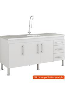 Balcão De Cozinha Flex 3 Pt 3 Gv Branco