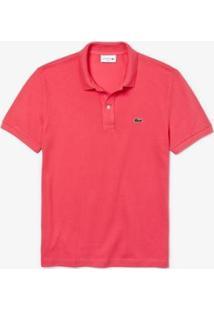Camisa Polo Lacoste Slim Fit Masculina - Masculino-Rosa Escuro
