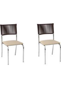 Kit 2 Cadeiras De Alumínio C128 Itajaí Bege - Alegro Móveis
