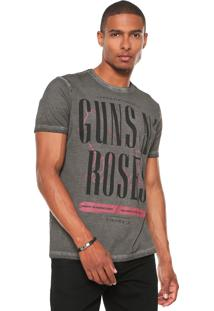 Camiseta Acostamento Guns N' Roses Cinza