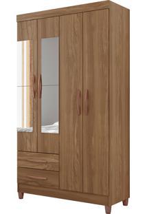 Guarda-Roupa Ambar 4 Portas C/ Espelhos Canela Albatroz