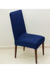Capa Para Cadeira De Malha Kit 6 Unidades Azul S.T.