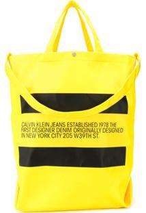 Calvin Klein Jeans Est. 1978 Bolsa Tote Com Logo - Preto