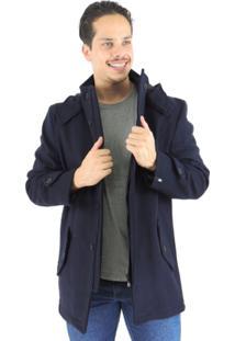 Blazer Masculino Tóquio Em Lã Uruguaia Premium - Masculino-Azul+Marinho