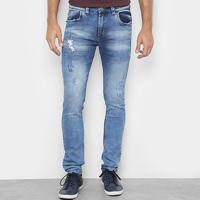 316644b04 Calça Jeans Slim Preston Lavada Destroyed Masculina - Masculino