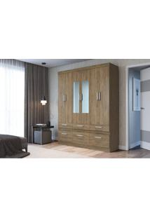 Guarda-Roupa 6 Portas Decibal Rp3660 Comespelho Wood Se