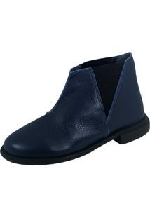 Bota S2 Shoes Sara Couro Marinho - Tricae