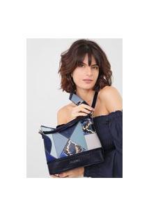 Bolsa Desigual Saco Bucket Bag Ayax Azul-Marinho
