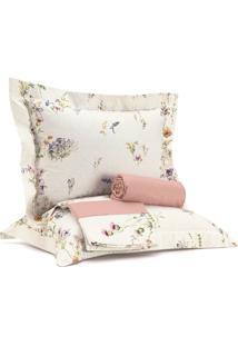 Jogo De Roupa De Cama Casal Essence - Sunset Flowers Rosa Altenburg